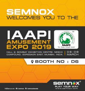 Semnox invites you to join us at 19th IAAPI Amusement Expo