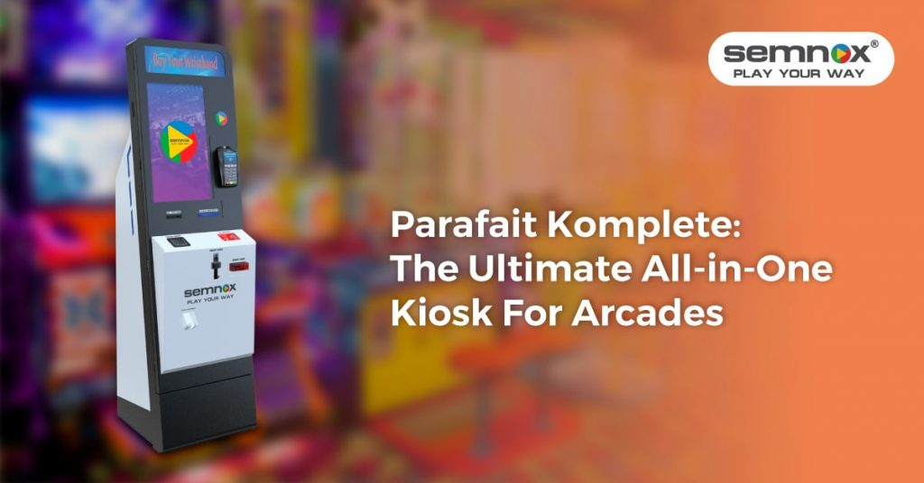 Picture fo all in one Kiosk for Arcade by semnox solutions