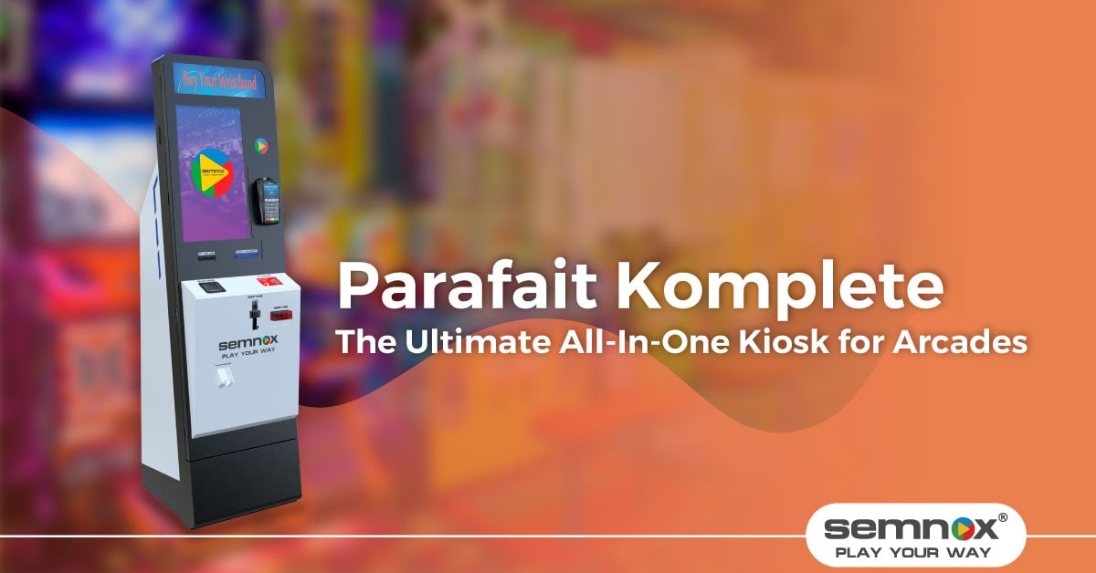 Parafait Komplete: the Ultimate All-In-One Kiosk for Arcades